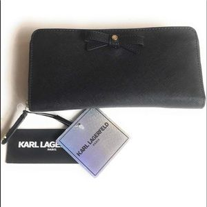 Brand new Karl Lagerfeld bow wallet